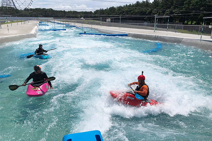 The first artificial canoe slalom course in Japan